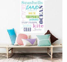 Beach Decor, Summer, Sun Typography 11X14- Nautical Inspiration Prints, Sea, Ocean, Sand, Sun, nautical home decor, blue, ocean Home Decor