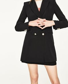 Image 6 of DOUBLE-BREASTED JACKET WITH BUTTON FASTENING from Zara