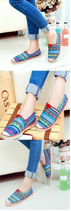 5ccf8e8f82   24.99  Zapatos de mujer - Tacón Plano - Comfort   Punta Redonda -  Mocasines - Casual - Tela - Multicolor