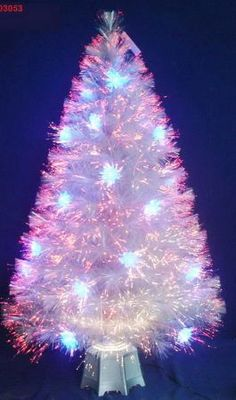 A Small Fiber Optic Christmas Tree