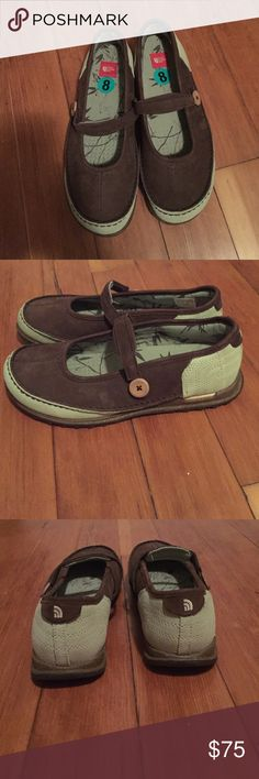 The North Face, new with tags , leather shoes The North Face, new with tags , super cute leather shoes. Light green and brown. The North Face Shoes Flats & Loafers