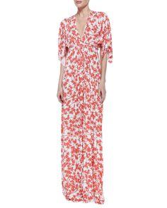 Rachel Pally Print-Jersey Maxi Caftan Dress - Neiman Marcus