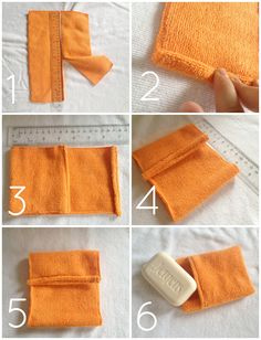 BRIKA-DIY-soap-pouch-steps Rachel is BRIKA's DIY intern. She's a sociology student with a love of fashion and all things pretty! Easy Sewing Projects, Sewing Hacks, Sewing Crafts, Diy Tumblr, Diy Soap Pouches, Diy Soap Holder, Towel Crafts, Operation Christmas Child, Diy Crafts To Sell