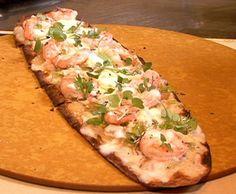 Flatbread with Shrimp and White Bean Hummus Recipe  | Epicurious.com