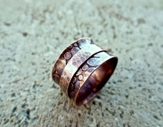 Hammered Copper Spinner Ring Copper Jewelry by DeborahLeeTaylor...