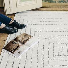 Recycled cotton carpet Piilopirtti white