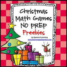 Christmas Math Games No Prep Freebies by Games 4 Learning contains 2 printable Christmas Math Game Sheets.  These free Christmas math games are perfect for keeping students busy in the lead up to Christmas. And best of all they will be challenged and engaged while using their math skills for these fun Christmas math activities.