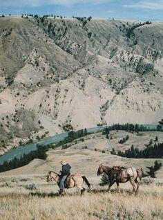 Exploring the wild west on horseback. #freedom #cowboys