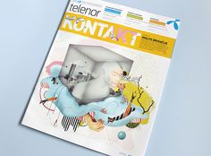 Telenor KONTAKT | Illustrations on Behance