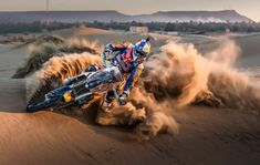 [Brace yourselves: Dakar is coming. Everything from Antonio Meo's KTM here to enormous trucks will race across the South American desert starting on January Photo credit: Red Bull Content Pool] Road Race Car, Off Road Racing, Auto Racing, Pajero Off Road, Rallye Paris Dakar, Rallye Raid, Freestyle Motocross, Vw Amarok, Dirtbikes