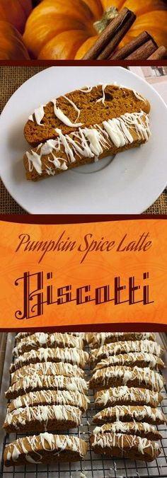 Pumpkin Spice Latte Biscotti - This biscotti has a wonderful pumpkin spice flavo.Pumpkin Spice Latte Biscotti - This biscotti has a wonderful pumpkin spice flavor with a little Fall Baking, Holiday Baking, Christmas Baking, Thanksgiving Baking, Thanksgiving Recipes, Biscotti Cookies, Pumpkin Biscotti, Pumpkin Recipes, Cake
