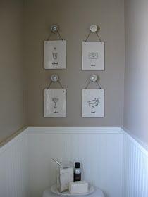 Glass door knobs for picture hangers