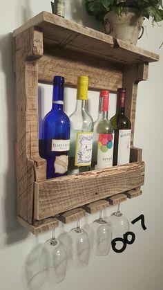 pallet wine glass rack.  Pallet Pallet Wine Rack By LindholmStudios On Etsy On Wine Glass Rack