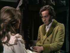 """Sorcha Cusack and Michael Jayston as Rochester and Jane 