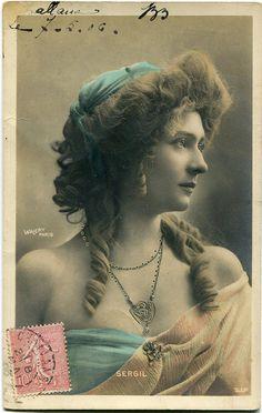 Vintage French photo postcard  Actress miss Sergil