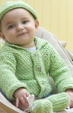 One Ball Baby Set Crochet Pattern Intermediate