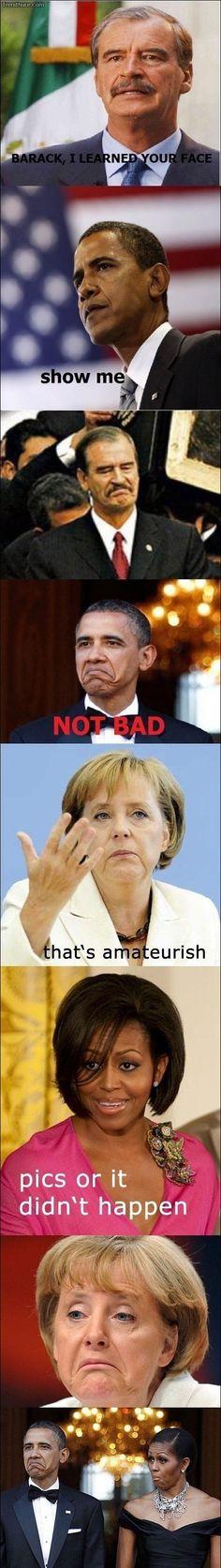 """i love Pres. Obama's """"not bad"""" face."""