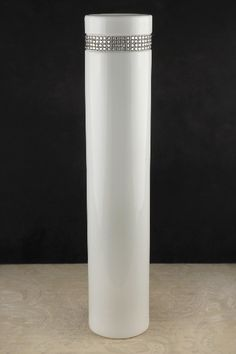 """Centerpiece vase. $15. (3/$42)  Height 20 inches   Width 4 inches wide  Opening 3-1/4"""" wide"""