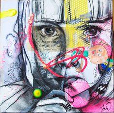 Kids Mixed Medias Melissa WilcoxSold Kids Mixed Medias Melissa Wilcox Kavka Designs Abstract NYC Blue/Grey/Pink/Purple Canvas Art x Street Art Canvas Painting - Frameless – Michelle's Garage Mr. Kunst Inspo, Art Inspo, A Level Art Sketchbook, Collage Portrait, Portraits, All Pop, Urbane Kunst, Ap Studio Art, Identity Art