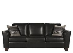 The Messina leather sofa will turn your living room into the pinnacle of style and comfort. Luxurious semi-aniline leather and comfy, plump cushions make lounging a pleasure. And you'll love the flared arms with diamond tufting that add an extra touch of class.