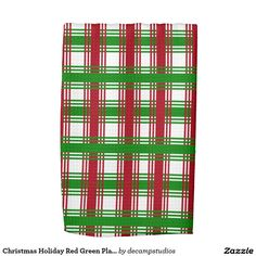 Christmas Holiday Red Green Plaid Kitchen Towels
