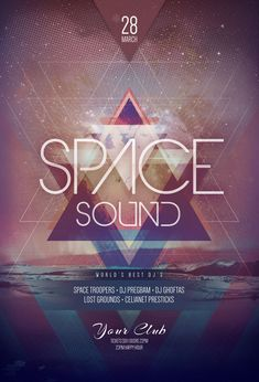 Space Sound Flyer by styleWish on Graphicriver (PSD template)