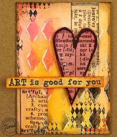 """Art"" ATC Artist Trading Card @warsztat"