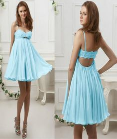 Chiffon Short/Mini Homecoming Dress Short Prom Dress.Sweetheart prom dress,Braces dress,