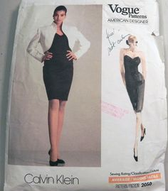 Calvin Klein Fitted Evening Dress with Bolero by retroactivefuture, $15.00