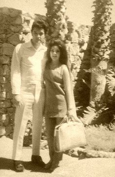 Elvis and Priscilla in Palm Springs - 1967