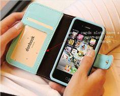 crown wallet case Wallet case handbags for by CreativeLeatherShop, $17.00