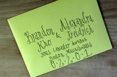 Handwritten Wedding Invitation Envelopes - Spiral Calligraphy Address