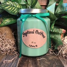 "A wonderful winter blend of mint and pine.  A frosty, winter wonderland full of sparkle, shimmer and magic.  16 oz. Soy Candle Information Jar Opening Diameter: 2 1/2"" Jar Diameter: 3 1/4"" Jar Height: 4 1/2"" Lid Diameter: 2 7/8"" Color: Green   Burn time for Candle: 128 to 192 hours  I use 100% Natural Soybean 119 Wax and ECO Wicks. The wicks are cotton braided with thin paper threads that gives the wick a rigid structure without the need for a core. No ..."