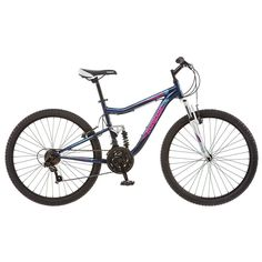 Women's Mongoose Status 2.2 26-in. Full Suspension Mountain Bike, Blue