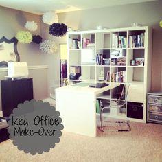 IKEA office Make-Over  #ikea #expedit #office