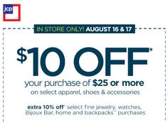 bb2563b8f36dc HOT  10 off  25 JCPenney Coupon 2013 + Earn JCP Gift Cards!