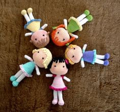 poppen haken - BB Dolls, Free English crochet pattern by The Yarn Box