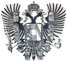 Empire of Austria, medium coat of arms, 1836-1866. 'Souveräne der deutschen Bundesstaaten', Johann Siebmacher, 1856. Imperial Eagle, Holy Roman Empire, Coat Of Arms, Lorraine, Eagles, Coins, Flag, Display, History