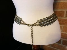 GOT inspired metal belt Medieval renaissance Chain LARP distressed #BeltsSashes