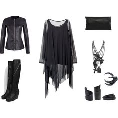 """NU-Goth"" by black-blessed on Polyvore"