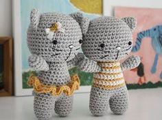 Tutoriales DIY: Cómo hacer un gato de amigurumi vía DaWanda.com