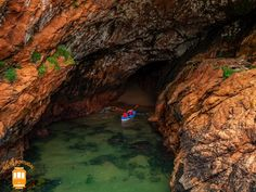 Things to do in Peniche – discover Berlengas and explore its mysterious caves.  #portugal #peniche #berlengas #cave