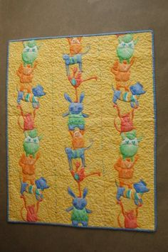 For Lyonel, Baby Circus Quilt  by Mary Kelly.  Preprinted fabric.