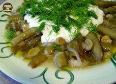 Zeytinyağlı Bakla Veggie Recipes, Asparagus, Sausage, Food And Drink, Meat, Chicken, Vegetables, Ethnic Recipes, Kitchen