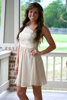 Champagne on Ice One Shoulder Dress