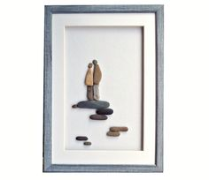 Personalized Love Gift For Couple Pebble Art Romantic Her Or Him Engagement