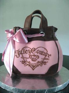 Juicy Couture Cake. It looks too good to eat!