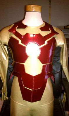Foam and vinyl Ironman costume