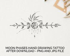 Moon Tattoo Designs, Tattoo Design Drawings, Tattoo Designs For Women, Tattoos For Women, Line Tattoos, Body Art Tattoos, Small Tattoos, Sleeve Tattoos, Tatoos