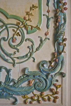 Close Up Detail of Rococo Doors at the Palace of Versailles in France